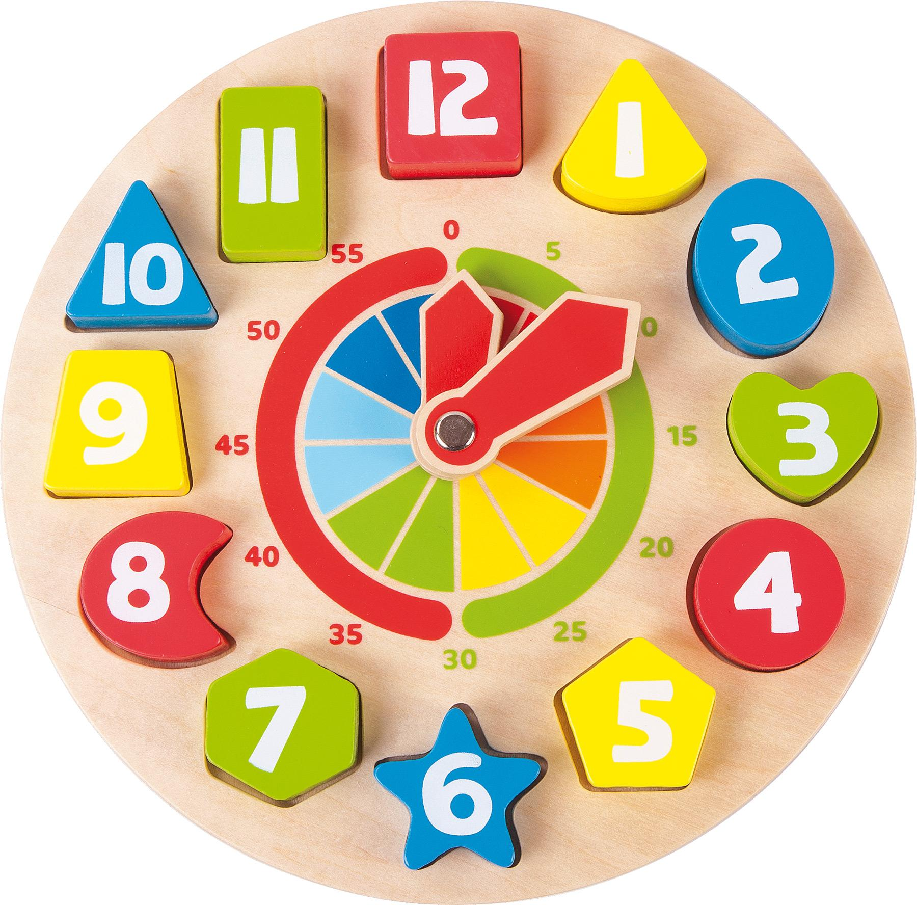 Horloge educative formes