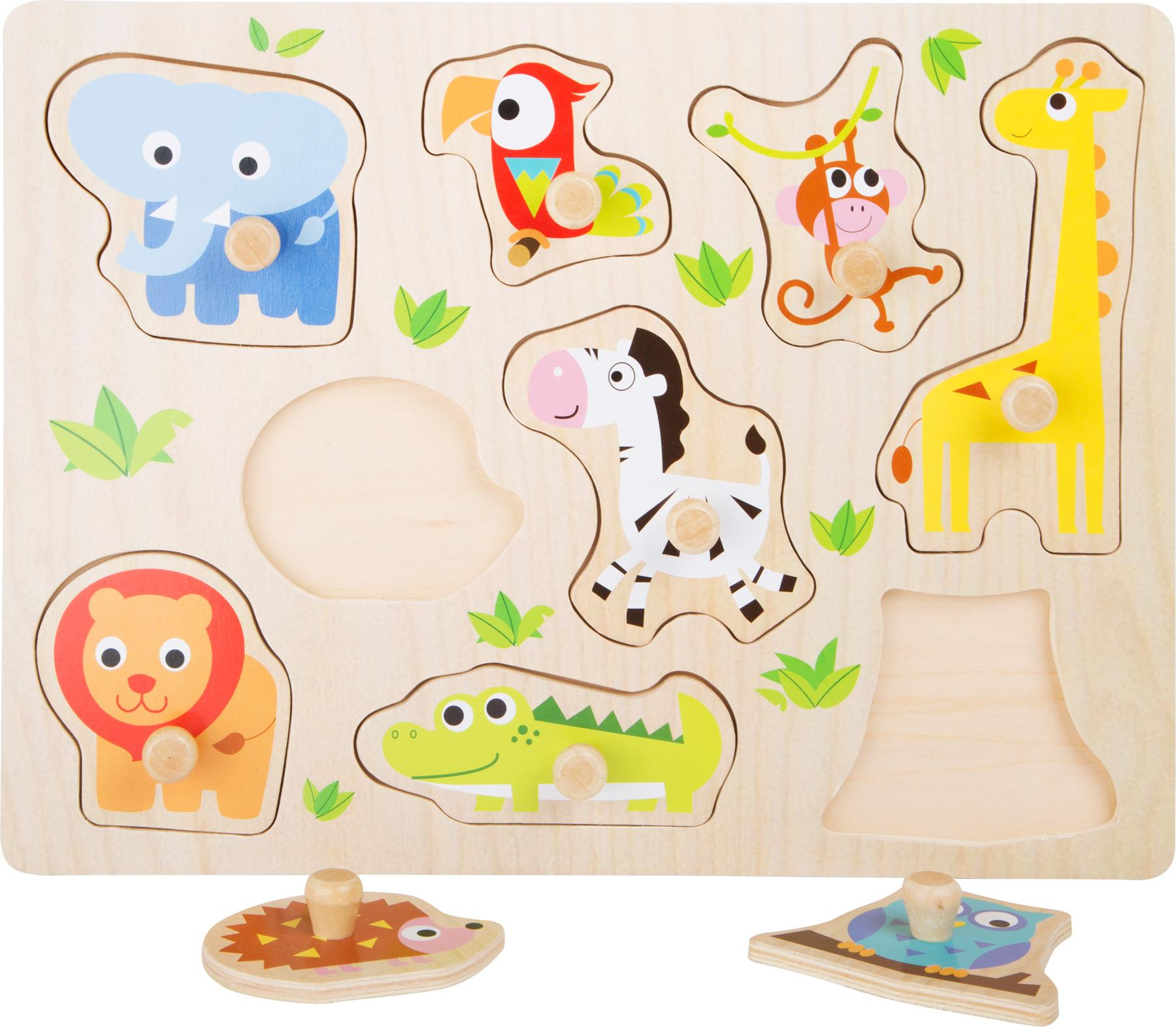 Puzzle a poser animaux du zoo 2